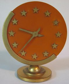 SETH THOMAS VINTAGE ART DECO BAKELITE STAR CLOCK