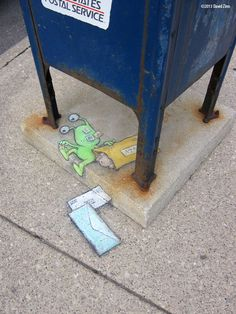 returned from sender (Ann Arbor Summer Festival, 2013) ~ Chalk street art by David Zinn