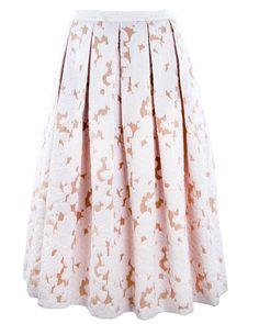 Michael KorsFloral Fil Coupe Pleated Dance Skirt