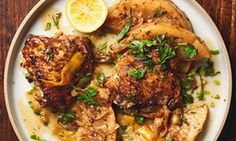 Yotam Ottolenghi's very slow-braised chicken with celeriac and lemon.