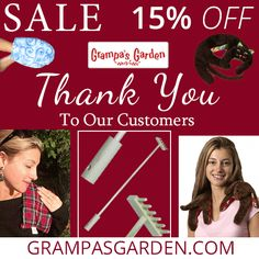 As our way of saying Thank You to our Customers, we are offering 15% Off select products at GrampasGarden.com. Sale Page: http://www.grampasgarden.com/thank-you-2014.html (Discount applied during checkout. Sale Through Sunday 11/14/2014)  #sale #gifts #holidays #shopping #puppy #kitty #handmitt #hotcoldpacks #backscratcher