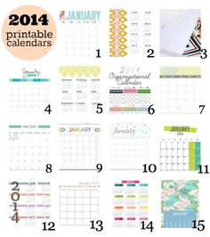 Honey We're Home: 2014 Printable Calendars