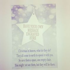 A beautiful chunky wooden star personalised with your own personal message The pretty star is attached to a delightful keepsake postcard and can be