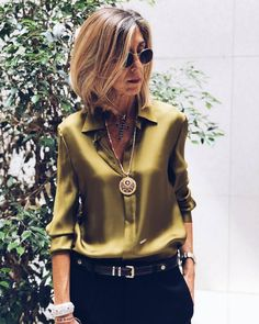 Solid Vintage Collar Long Sleeve Blouses Fashion girls, party dresses long dress for short Women, casual summer outfit ideas, party dresses Fashion Trends, Latest Fashion # Over 50 Womens Fashion, Fashion Over 50, Work Fashion, Fashion Looks, Trendy Fashion, Women's Fashion, Mode Outfits, Fashion Outfits, Fashion Tips