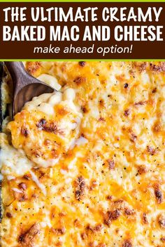 Creamy Baked Mac and Cheese (Contest-Winning!) - The Chunky Chef Rich and creamy homemade baked mac and cheese, filled with multiple layers of shredded cheeses, smothered in a smooth cheese sauce, and baked until bubbly and perfect! Macaroni Cheese Recipes, Bake Mac And Cheese, Creamy Mac And Cheese, Mac And Cheese Homemade, Baked Macaroni, Baked Cheese, Ultimate Baked Mac And Cheese Recipe, Cheese Sauce For Mac And Cheese Recipe, Baked Mac And Cheese Casserole Recipe
