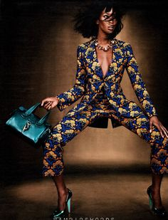 Naomi Campbell by Emma Summerton for W Magazine July 2012