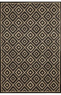 Designer rugs at 60% off! Trans Ocean Carlton Outdoor Diamond Charcoal Rug | Contemporary Rugs