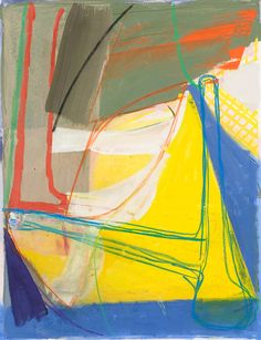 "Amy Sillman, ""Untitled (#2)"", 2008, Gouache, chalk and pencil on etching on paper, 34"" x 28"" paper size"