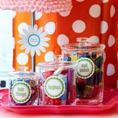 30 Fabulous DIY Organization Ideas for Girls via:architectureartdesigns.com - love these acrylic canisters.