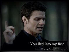 """Elijah Mikaelson.  I could have smacked Elena when she lied to Elijah.  Seriously?  And then after the fact you realize """"oh noes now Elijah will die! Gasp!""""  Not your smartest moment Miss Gilbert.  I know you have a warranted hate on Klaus, but really? #TheOriginals ♥ #TVD ♥ #DanielGillies ♥"""