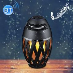 Portable Smart LED Flame Atmosphere Lamp Night Light with Stereo Sound Bluetooth Speaker Cool Gadgets To Buy, Night Light, Riding Helmets, Bluetooth, Distance, Lily, Long Distance, Bedside Lamp, Long Distance Relationships