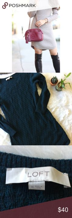 Ann Taylor LOFT BLUE Cable Knit Dress This dress is in excellent condition! Great for fall and winter. Size medium. Smoke and pet free home. No flaws like stains or holes. No trades. Offers welcome  Ann Taylor Dresses
