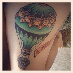 My hot air balloon tattoo by Teniele Sadd from Korpus in Brunswick, Victoria, Australia (28/12/2012)