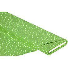 Baumwollstoff Sternenhimmel, grün/weiß