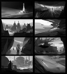 ArtStation - pt, Dawnpu at Art vision studio Landscape Sketch, Landscape Concept, Landscape Drawings, Landscape Illustration, Digital Illustration, Environment Sketch, Environment Design, Composition Art, Alien Concept Art