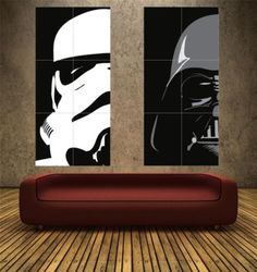 STAR WARS - IMPERIAL SET - PAIR - 2 x POSTER ART PRINTS (Boychild)