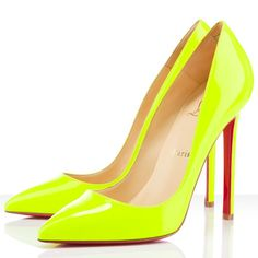 Christian Louboutin Pigalle 120mm Pumps Fluo Yellow