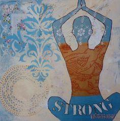 Yoga Studio: Yoga Strong Blue Print 8x10. $22.00, via Etsy.