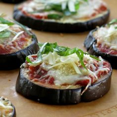 Easy Eggplant Parmesan Stacks - less work, fewer calories and still tastes amazing! #lowcarb #glutenfree #vegetarian