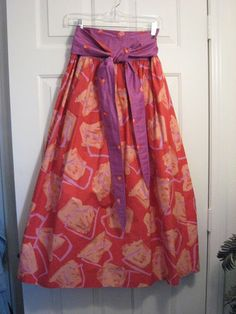Vintage Jeanne Marc Cotton Wrap Skirt | eBay
