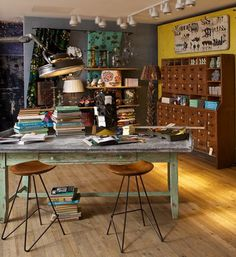 Eclectic craft room. My woman cave. Need this when I buy a home.