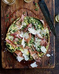 Five-Herb Frittata with Prosciutto and Parmesan Recipe on Food & Wine