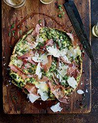 Five-Herb Frittata Prosciutto and Parmesan