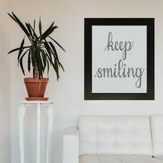 Print available for sale, keep smiling! Mood Lifters, Calligraphy Text, Keep Smiling, International Paper Sizes, Marketing And Advertising, Really Cool Stuff, How To Draw Hands, Etsy Seller, Presentation