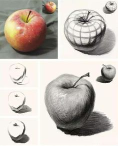 Shading Drawing, Basic Drawing, Drawing Skills, Drawing Lessons, Painting & Drawing, Art Drawings Sketches Simple, Pencil Art Drawings, Realistic Drawings, Pencil Shading Techniques