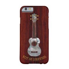 ukulele phone case, amazon rosewood, mother of pearl, keep on strumming, uke gifts, iphone, samsung