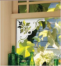 Doral Etched Glass Corner Accents