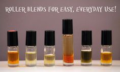 6 Roller Bottle Blends for EASY Everyday Use! OnGuard, Cough Blend, Allergies Blend, Peaceful Child Blend (ADD,anxiety), Sleep and Focus