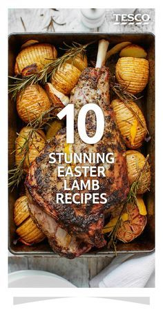 10 stunning Easter lamb recipes Ensure your Easter lunch is one to remember with our stunning roast lamb recipes. Keep it traditional by pairing a leg of lamb with mint and capers, or try something more unique like a fragrant Middle Eastern stuffing. Easter Dinner Recipes, Holiday Recipes, Easter Meal Ideas, Easter Lamb, Easter Leg Of Lamb Recipe, Passover Lamb Recipe, Easter Eggs, Tesco Real Food, Roast Dinner