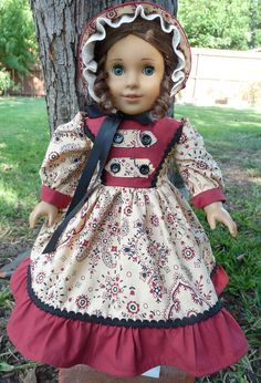 18 Doll Clothes Civil War Style Gown In Fall by Designed4Dolls