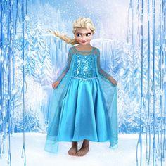 Frozen Snow Queen Elsa Kid Fancy Dress Movie Cosplay Costume