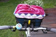 Bags to bicycle basket by Timimili on Etsy