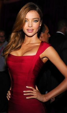 That tight red dress!!