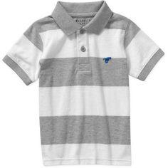 Wrangler Toddler Boy Short Sleeve Polo Shirt Size 3 Years Gray Heather