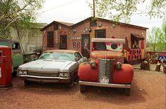 "Route 66 - Snow Cap Drive-in, Seligman, Arizona. ""The Fine Art Photography of Frank Romeo."""