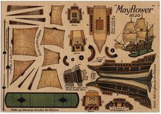 Post Card Paper Toy Cut Out Mayflower SHIP | eBay