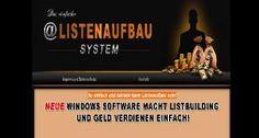 Das Listenaufbau-System besteht aus 5 weitere Software Produkten, die Sie als Bonus für eine Anmeldung in Ihren Newsletter weitergeben dürfen und natürlich auch selbst nutzen können