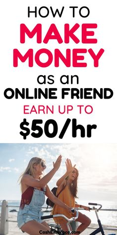 Are you making friends easily? Then you not get paid to be an online friend? Working as a virtual friend is a great side hustle for anyone who would like to make some extra cash. This extra income idea is a real way to make money online. Becoming an online friend for rent is a great way to make money from home.#getpaidtobeanonlinefriend#makemoneyasavirtualfriend#friends#makemoneyonline#extraincomeideas#makeextracash#sidehustels#makemoney Ways To Earn Money, Earn Money From Home, Earn Money Online, Make Money Blogging, Way To Make Money, Cash From Home, Earn Extra Cash, Extra Money, Creative Instagram Photo Ideas