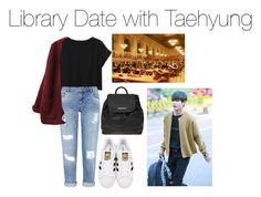 """Library Date with Taehyung"" by kookiechu ❤ liked on Polyvore featuring Miss Selfridge, adidas Originals, Dorothy Perkins and Public Library"