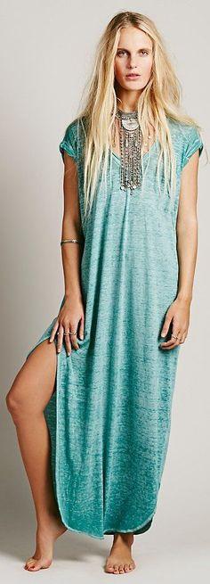 Bohemian Style| Serafini Amelia| Boho Casual| T Free People ~ Keep Me Tee Dress