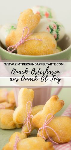 Delicious Easter rabbits made from quark oil dough, easy and quick- Leckere Oster-Hasen aus Quark-Öl-Teig, ganz einfach und schnell Traditionally, these sugar-sweet rabbits go with Easter … - Cakes Originales, Queijo Cottage, Easter Biscuits, Fries In The Oven, Easter Cookies, Fish Recipes, Smoothie Recipes, Drink Recipes, Cookie Recipes
