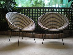 Exceptional Retro Saucer Chairs (pair)