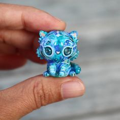 Sapphire Sky Galaxy Tiger Cub by TheLittleMew on Etsy