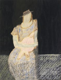 Milton Avery, Mother & Child, 1953, black ink, gouache, colored crayon and charcoal on paper, 22 x 17 in.