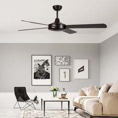 Modern fan Ostro with four reversible blades. Living Room Ceiling Fan, Ceiling Fans, Ceiling Fan Makeover, Modern Fan, Fashion Room, Gallery Wall, Bedroom, Shop, Chandelier