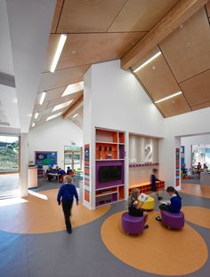 Built by Holmes Miller in Oldmeldrum, United Kingdom with date 2014. Images by Andrew Lee. The outstanding new Primary School promotes a locally distinctive and contemporary design solution which is based upo...